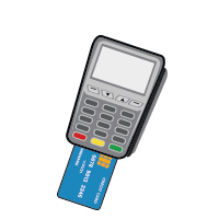 NationalLink Merchant Services Credit Card Machine with EMV card icon